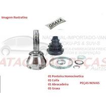 Ponteira Homocinetica Roda Fiat Marea 2.4 20v 98 Ate 06 C/ab