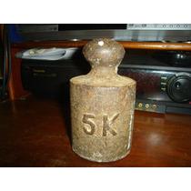 Peso De Ferro 5 Kg Antigo R$ 39,00