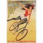 Bicicleta Bailarina Paris Cabelo Voando Poster Repro