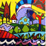 Quadro Tela - Painel Perfect Day - Romero Britto