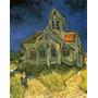 Mulher Indo A Igreja Rezar Reprodução De Van Gogh Na Tela