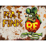 Placas Decorativas Rat Fink Hot Rod, Rat Rod, Muscle Car
