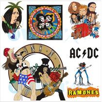 Estampas Bandas De Rock Vetores Corel Draw + Brinde