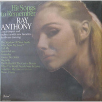 Ray Anthony Lp Hit Songs To Remember Capa Sanduiche