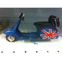 Miniatura Lata Moto Vespa Lambreta Inglaterra Reino Unido