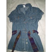 Camisao Jeans Feminino 38/ 40