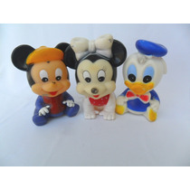 Mickey Minnie E Pato Donald Baby Disney Borracha Vinil