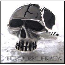 Anel Caveira / Crânio Rock Em Prata