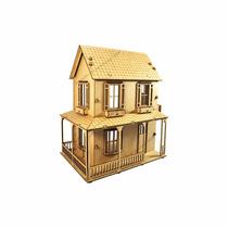 Casa Para Boneca - Tradicional - 40x23,5x36 - Madeira - Mdf