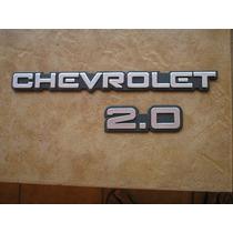 Kit Emblema Chevrolet 2.0 Cinza Para Monza , Kadett Ipanema