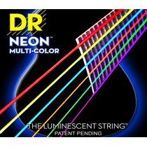 Cordas Dr Neon Violão Aço Multicolor 0.10/0.48 Mca-10