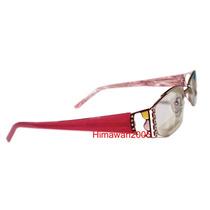 Armação P/ Óculos Feminino Rosa Preto Acetato C Strass M7329