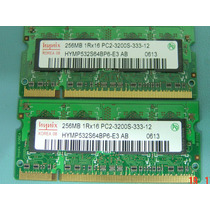 Memória Notebook Hynix Pc2-3200 Ddr2-400 256mb