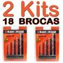 2  Kits / Jogos De Brocas Black & Decker - Total 18 Brocas