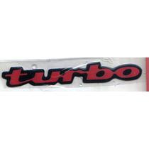 Emblema Resinado Turbo Vermelho - Mmf Auto Parts