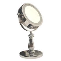 Top Espelho De Mesa Luz De Led Cromado Pronta-entrega!