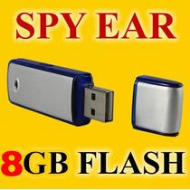 Micro Spy Gravador De Voz Usb Mini Espião 8gb 240hr Gravação