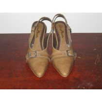 Sapato Scarpin Marron Claro Numero 35 Salto 7cm Frete Grátis