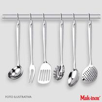 Barra Utensílios Mak Inox 60cm C/ 6 Ganchos