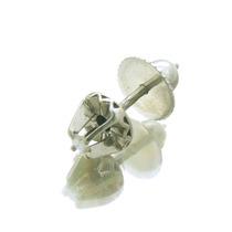 Lindo Brinco Individual Em Prata Paládio C/ Diamante J10720