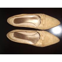 Sandalia Sapatilha Tipo Boneca Couro Natural Camurça 35