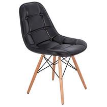 Cadeira Pé Palito Preto Brilho Fullway