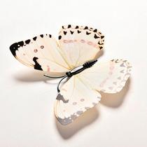 Borboletas Decorativas Brancas 3d Decoração 12 Peças Jardim