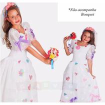 Vestido Noiva Junino Infantil Festa Junina Caipira Noivinha