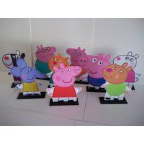 Família Peppa Pig E Amigos Display De Mesa 9 Personagens.