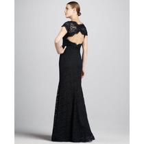 Vestido Eg Importado Longo Elegante Decote Sofisticado Renda