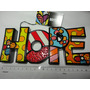 Romero Britto Palavra Hope Word Decor