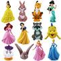12 Pcs Disney Branca De Neve Bela E Fera Jasmine Cinderella