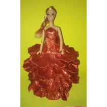 Boneca Com Vestido Eva - Vermelho