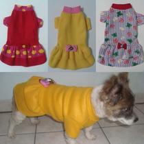 Roupa Para Cachorro - Vestido Inverno Em Sofit Tam 01 A 10