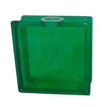 Vaso Quadrado Quasar Verde Em Vidro