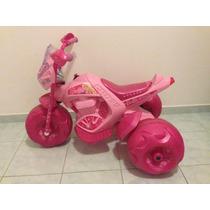 Moto Elétrica Barbie 6v Rosa Da Bandeirante Pouquissimo Uso