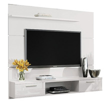 Painel Para Tv Suspenso Flat 1.8 Branco - Hb Móveis