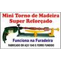 Mini Torno Para Madeira 60 Cm