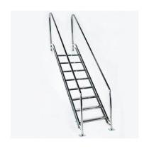 Escada Para Piscina - Paris -1,10 M - Degraus Em Inox