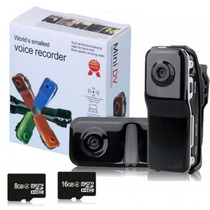 Filmadora Mini Dv Dvr Webcam Camera Video Espiã 720x480 Md80