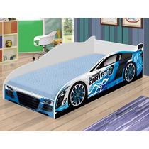Cama Infantil Carro Drift - Azul - Mv Móveis