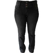 Calça Jeans Preta - 38 Ao 54 (tamanhos Grandes)