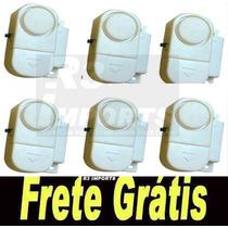 Kit 6 Alarmes Contra Invasão Porta Ou Janela + Frete Grátis