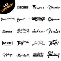 Adesivos Logos, Ibanez, Fender, Takamine, Gibson 102 Opções!