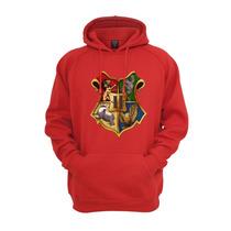 Blusa De Moletom Com Capuz - Hogwarts Harry Potter Vermelhor