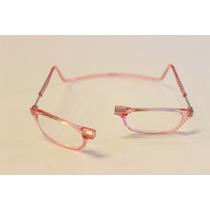 Óculos Clic - 100% Original - Veja Vídeo - Cor.rosa