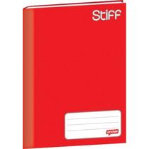 Caderno Brochurão Stiff 96 Folhas C/pauta - Vermelho C/5 Und