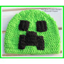 Touca Gorro Croche Minecraft Creeper - Enderman Art Crochê
