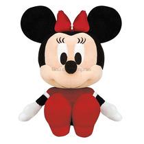 Boneco Pelúcia Disney Minnie Baby Vestido Vermelho Original