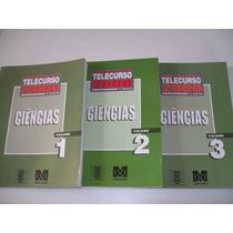 Livro Telecur 2000 Ciências Volume 1/2 E 3